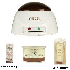 Gigi Honee Combo #1 Economy Warmer With All Purpose Honee - Small Strips & Wood Applicators