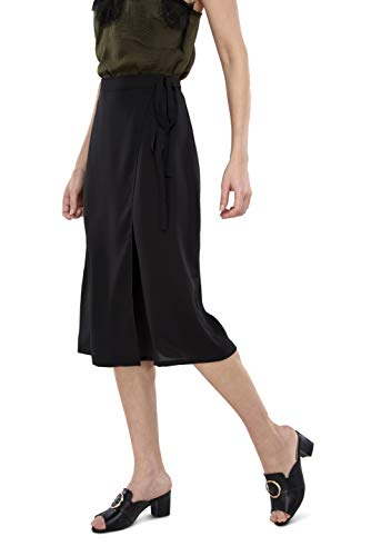 Our Heritage Women's Skirt Women's Black Straight Wrap Skirt (S) ()
