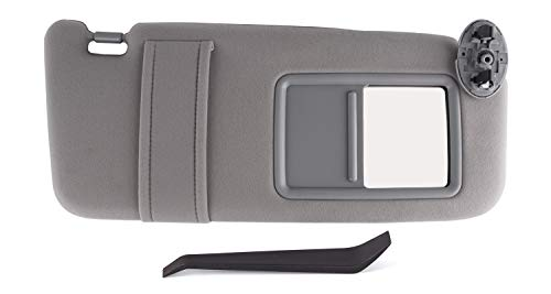 UNIGT Passenger Sun Visor Replaces for 2007 2008 2009 2010 2011 Toyota Camry/Hybrid Right Side Sunvisor Replacement, 74310-06750-B0 (Gray/No Sunroof)