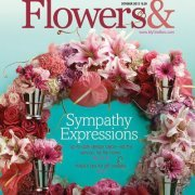 Flowers& magazine October 2012, Sympathy Expresions, Up to Date design Ideas for the service for the home, helpfull tipos for gift basckets