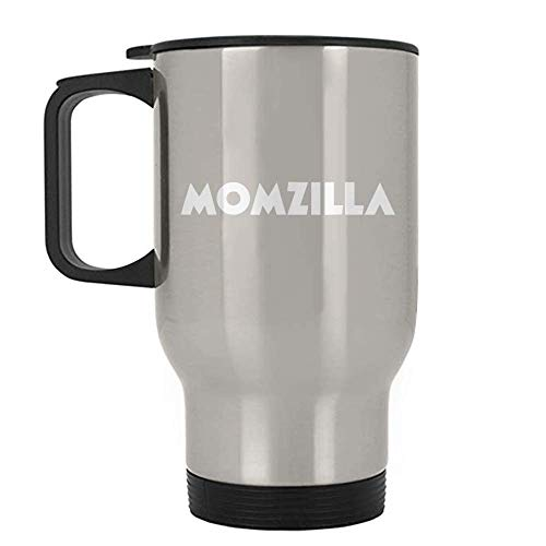 Momzilla Funny Mom Halloween Easy Costume Silver Stainless Travel Mug ()