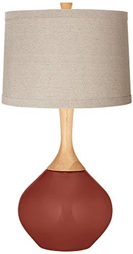 - Madeira Natural Linen Drum Shade Wexler Table Lamp - Color + Plus