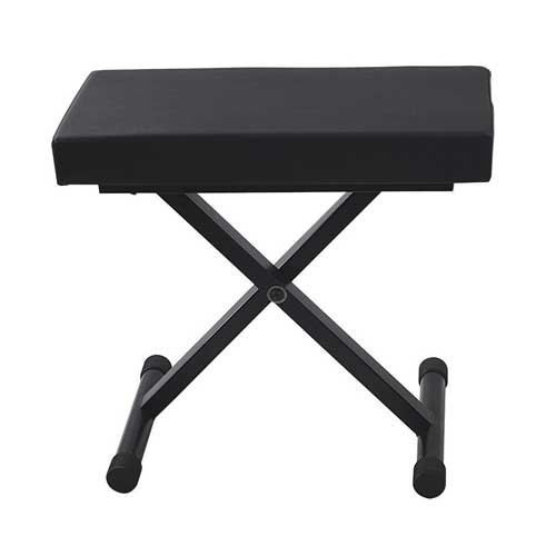 Accenta BEN-1 Padded Keyboard Bench, 24 x 12'', Height Adjustable 19-24'' by Accenta