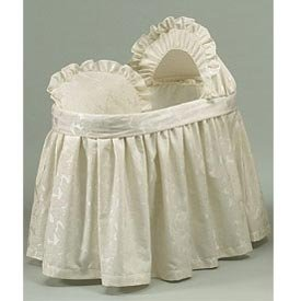 BabyDoll Baby King Bassinet Liner/Skirt and Hood, 17''x31'' by BabyDoll Bedding