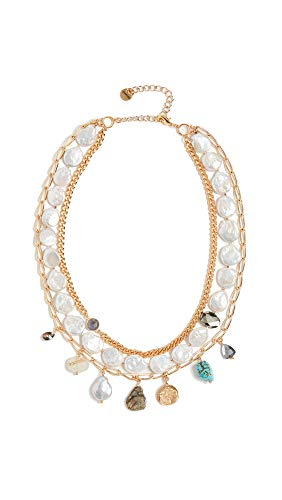 Chan Luu Women's White Pearl Mix Necklace, White Pearl, One Size
