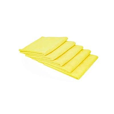The Rag Company (5 Pack Edgeless 300 16 x 16 Microfiber Terry Towel, Yellow: Automotive