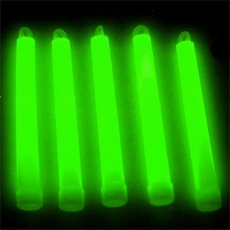6' Premium Lumistick Glow Light Sticks Green (Tube of 25)