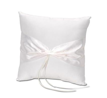 Amazon Com Darice Vl37 Ring Pillow Design Your Own Cream Arts