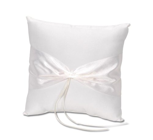 (Darice VL37, Ring Pillow Design Your Own, Cream )
