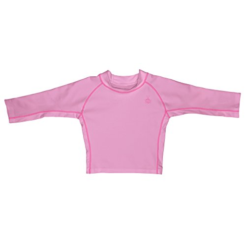i play. Baby Long Sleeve Rashguard Shirt, Light Pink, 18 Months - Lycra Long Sleeve Rash Guard