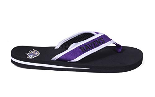 Purple Flops Flip NFL Comfy Feet and Happy Officially White Contour Licensed Feet nqISnpv