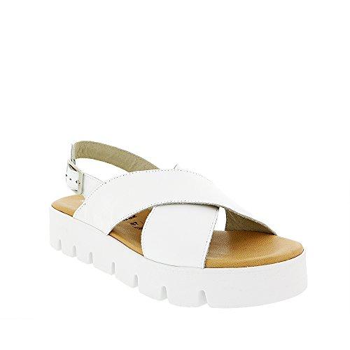 8100 Melrose Hvit Tverrbåndet Sandal Hvit