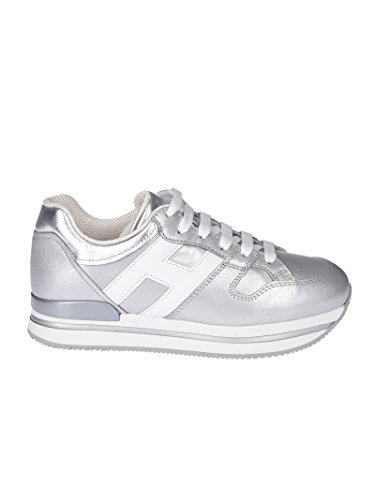Hogan Donna Hxw2220t548i8g0906 Sneakers In Pelle Argento