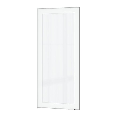 "Ikea Glass door, frosted glass, aluminum 18x40 """