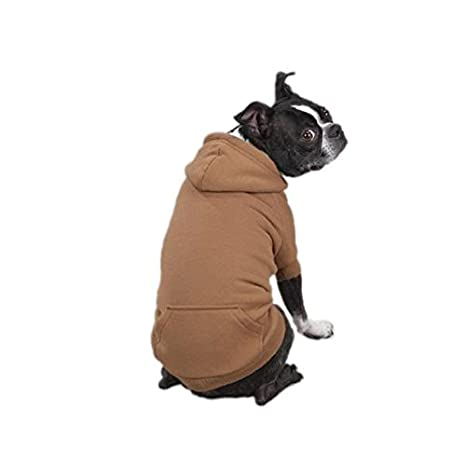 Zack & Zoey Polyester Fleece Lined Dog Hoodie, X-Large, Brown UM1005 24 25