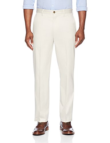 (BUTTONED DOWN Men's Relaxed Fit Flat Front Stretch Non-Iron Dress Chino Pant, Stone, 33W x)