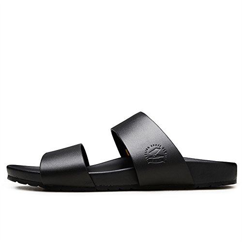 Noir de Chaussures Vachette Cuir Caoutchouc Adulte en Sandales Insun Mules qIwBWUz