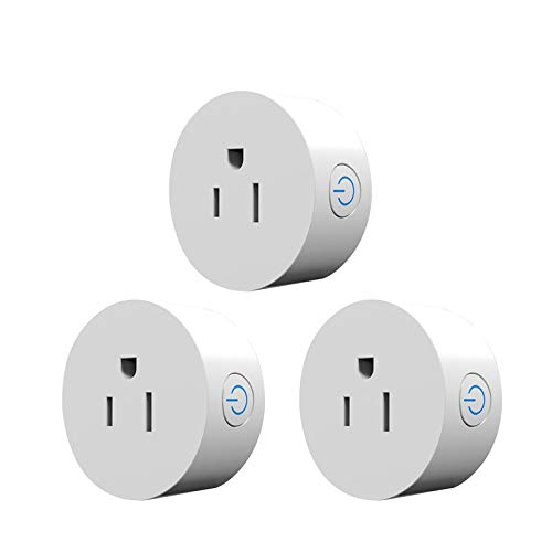 RSH Mini Smart Plug,10A Smart Outlet Wifi Enabled,Compatible with Alexa,Echo dot and Google Home No Hub Remote Control Your Devices From Anywhere 3 Pack by RSH