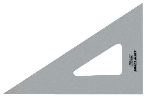 PRO ART 12-Inch 30/60-Degree Triangle, Clear ()