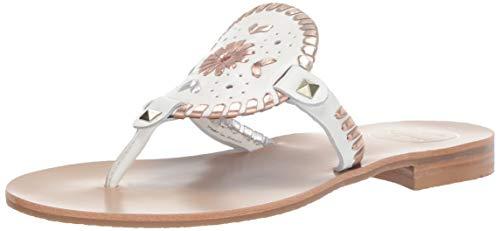 Jack Rogers Women's Georgica Sandal White Metallic 9 M US