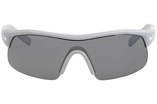 Nike Golf Show X1 Sunglasses, Wolf Grey/White Frame, Grey with Silver Flash/Outdoor Tint Lens by Nike Golf (Image #1)