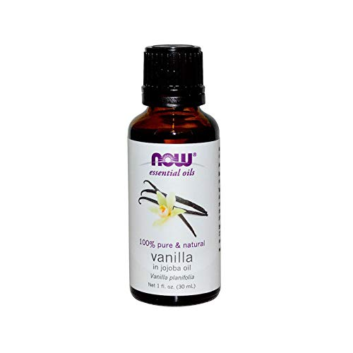 Now Essential Oils, Vanilla Oil, Blend of Pure Vanilla Bean Extract in Pure Jojoba Oil, Sweet Aromatherapy Scent, Vegan, -