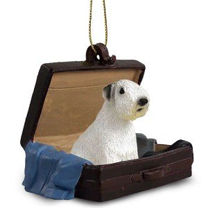 Sealyham Terrier Traveling Companion Dog Ornament Sealyham Terrier Dog Figurine
