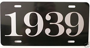 (1939 39 YEAR METAL LICENSE PLATE TAG 6 X 12 FITS FORD CHEVY DODGE BUICK CHRYSLER MERCURY PONTIAC PLYMOUTH OLDS STUDEBAKER HOT Rod Muscle CAR Classic Museum Collection Novelty Gift Sign GARAGE MAN CAVE)
