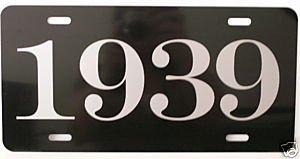 Motown Automotive Design 1939 39 YEAR METAL LICENSE PLATE