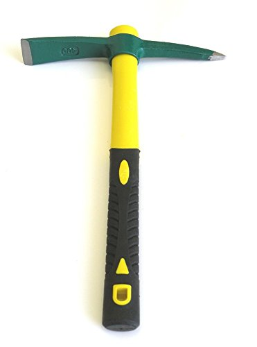 Handle Length Blade - Ergonomic Solid Aim Mid Sized Hand-Held Pick Mattock Classic Digging Tool, Heavy Duty Extra Thick Steel Pickaxe with Heavy Duty Handle (15inch Overall in Length With 1.5