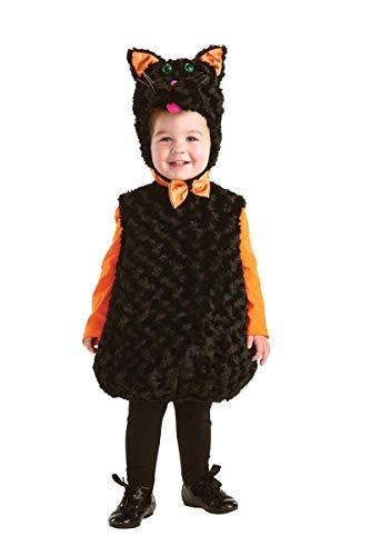(Underwraps Toddler's Black Cat Belly Babies Costume, Black, Medium)