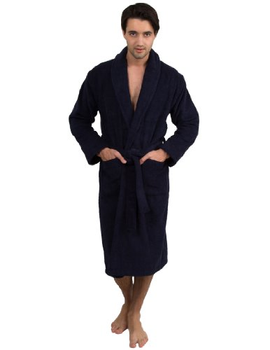 TowelSelections Mens Robe, Turkish Cotton Terry Shawl Bathrobe Made in Turkey