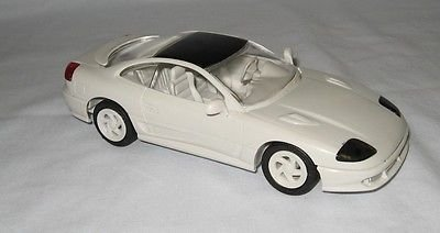 (#6149 Ertl/AMT 1992 Dodge Stealth R/T Turbo,Pearl White 1/25 Plastic Promo,Fully Assembled )