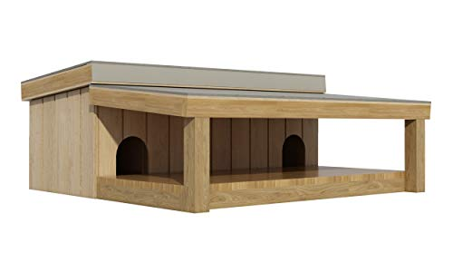Multi Dog House with Covered Porch Plans DIY Pet Puppy Shelter Kennel Medium