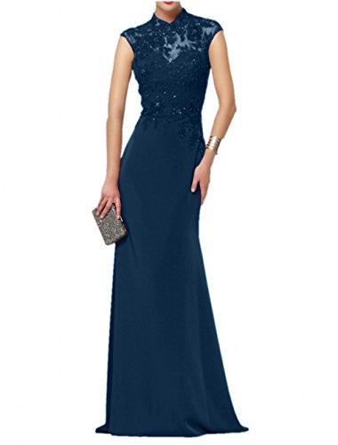 Elegant Partykleider La Spitze Chifon Navy Kleider mia Brautmutterkleider Abendkleider Jugendweihe Blau Brau Formalkleider Langes 0qwxCaw