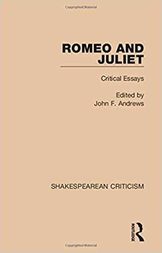 Amazoncom Shakespearean Criticism Romeo And Juliet Critical  Shakespearean Criticism Romeo And Juliet Critical Essays Volume  St  Edition