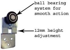 Saheco SF-30 - Guía doble para apertura de puertas correderas (3 puertas): Amazon.es: Bricolaje y herramientas