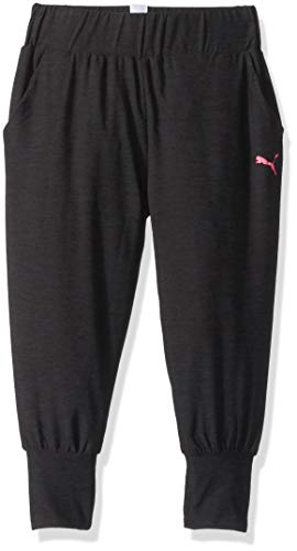 PUMA Big Girls' Joggers, Ebony Heather, -