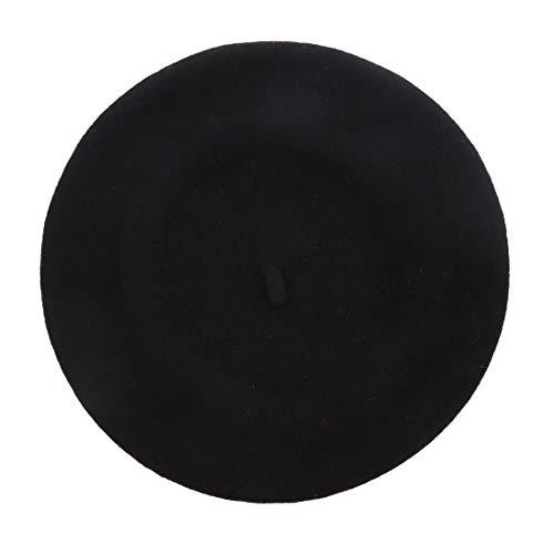 (Landana Headscarves Wool Ladies Winter Beret (Black))