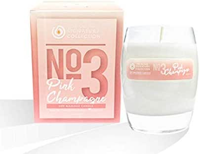The Oil Bar No. 3 Pink Champagne Soy Massage Candle