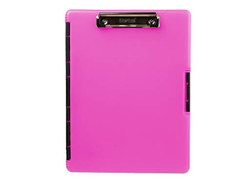 (Dexas Slimcase 2 Storage Clipboard with Side Opening, Neon Pink)