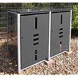 Mülltonnenbox Metall für 2 Mülltonnen mit Klappdeckel anthrazit …