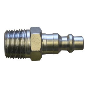 Interstate Pneumatics CPH461 1/4 Inch Industrial Steel Coupler Plug 3/8 Inch Male NPT