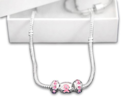 10 Pink Ribbon Awareness Necklaces (Wholesale Pack - 10 (Relay For Life Merchandise)