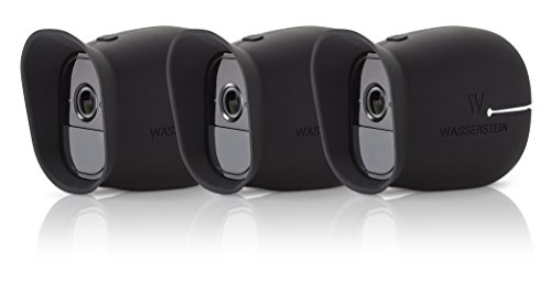 Skin Silicone - 3 x Silicone Skins for Arlo Smart Security - 100% Wire-Free Cameras by Wasserstein (Arlo Pro, 3 x Black)