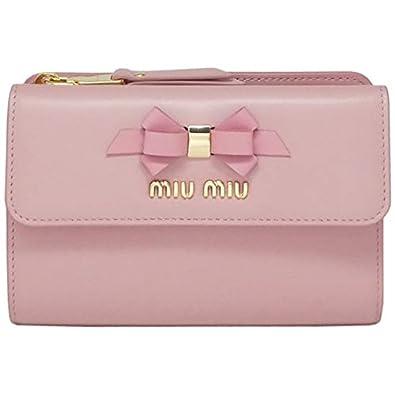 size 40 c003b b083b [ミュウミュウ] 財布 リボン カーフレザー フィオッコ ... - Amazon