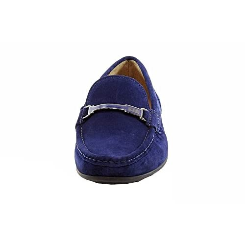 8e70d377a250f free shipping Hugo Boss Men's Flarro Fashion Medium Blue Suede ...