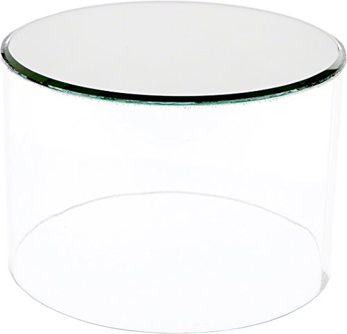 Plymor Clear Acrylic Cylinder Display Riser with Mirror Top, 2 H x 6 D