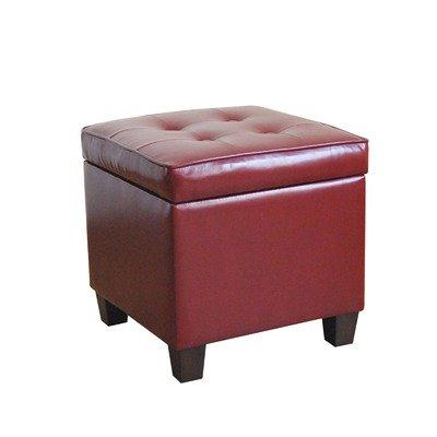 Storage Cube Ottoman Color: Dark Red