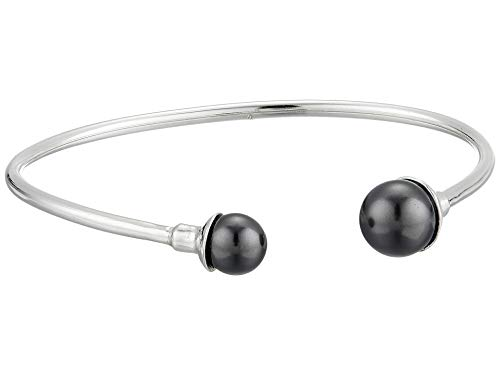Alex and Ani Women's Sea Sultry Pearl Cuff Bracelet, Sterling Silver, Adjustable